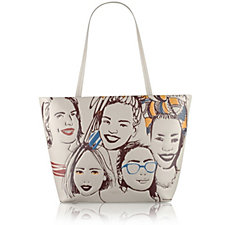 163386 - Radley London Faces of the City Large Leather Zip Top Tote Bag
