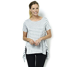 Yong Kim Short Sleeve Stripe Jersey Tunic