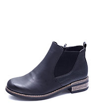 Rieker Embossed Chelsea Boot with Heel Pull