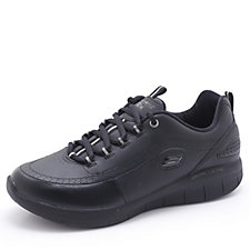 Skechers Synergy 2.0 Leather Lace Up Trainer w/Memory Foam
