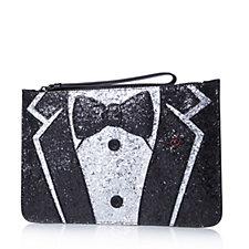 Lulu Guinness Glitter Tux Grace Clutch Bag