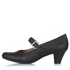 Clarks Fearne Dew Court Shoe Plaited Detail Dolly Bar Strap