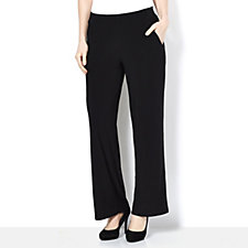 Trousers with Elasticated Waist & Front Pockets by Nina Leonard