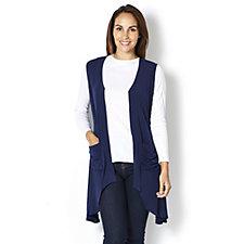 Drape Front Jersey Waistcoat by Michele Hope