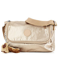 Kipling Dulexie Premium Flapover Small Handbag with Crossbody Strap