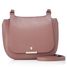 Modalu England Small Margot Saddle Leather Flapover Crossbody Bag