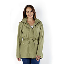 C. Wonder Luminous Hooded Jacket with Geo Print Lining