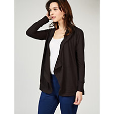 Cuddl Duds Hooded Cascade Front Cardigan