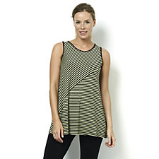 Yong Kim Stripe Jersey Sleeveless Tunic