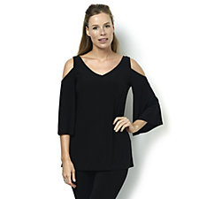 Coco Bianco 3/4 Sleeve Cold Shoulder Top