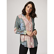 165687 - Fashion by Together Printed Crinkle Shirt