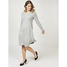 166987 - H by Halston Hacci Soft V Neck A Line Dress