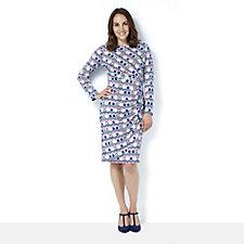 Eve 3/4 Sleeve Honeycomb Print Dress by Onjenu London