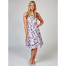Isaac Mizrahi Live Special Edition Floral Jacquard Fit and Flare Dress