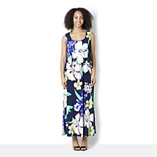 Ronni Nicole 'O So Slim' Floral Maxi Dress