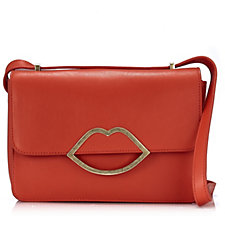 Lulu Guinness Edie Small Smooth Leather Crossbody Bag