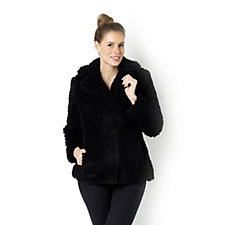 Centigrade Curly Faux Fur Coat