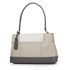 Tignanello Tri Tone Smooth Operator Glove Leather Shoulder Bag