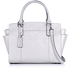 Tignanello Saffiano Leather Zip Top Handbag with RFID Protection