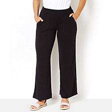 Isaac Mizrahi Live Wide Leg Pull On Trousers