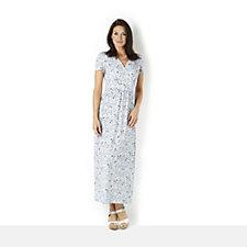 Kim & Co Montone Petunias Brazil Knit Jersey Maxi Dress