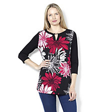 160188 - Print Front Key Hole Tunic by Susan Graver