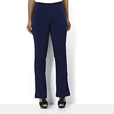 Women with Control Ponte Slim Low Bell Pull On Trouser