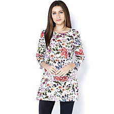 Artscapes Printed 3/4 Sleeve Tunic