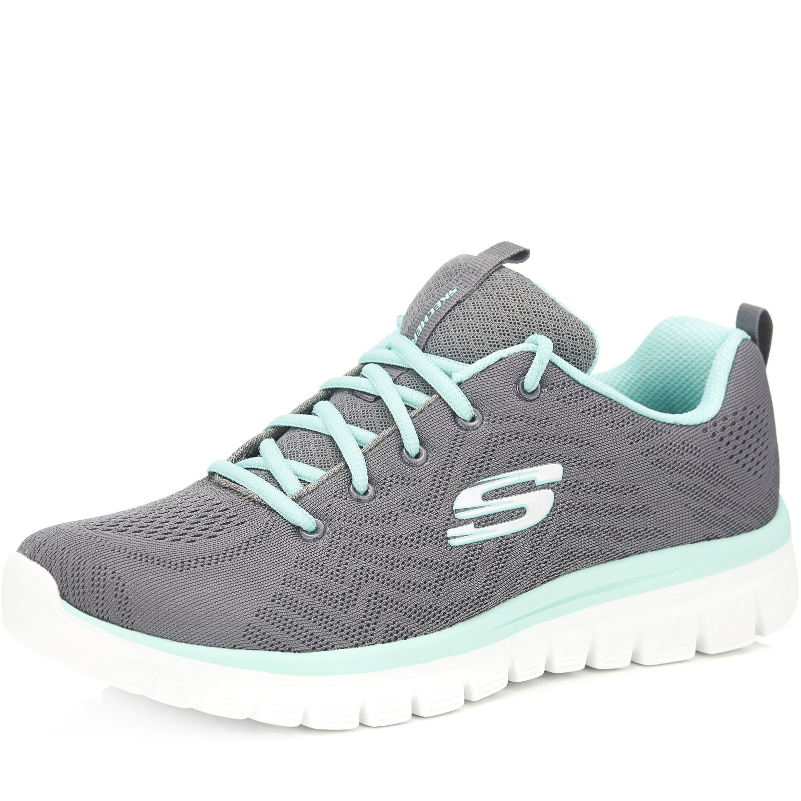 Skechers Graceful Engineered Mesh Lace-Up Trainer with Memory Foam - QVC UK