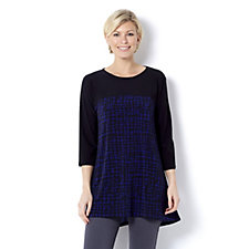 Grace Contrast Yoke Tunic with Front Raised Hem