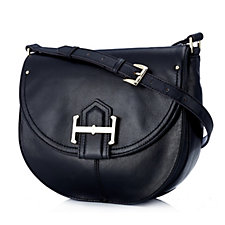 Tignanello Loredo Vintage Leather Saddle Bag with RFID Protection