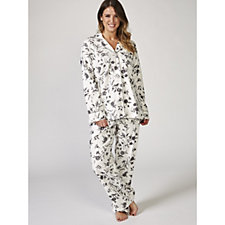 Carole Hochman Brushed Flannel Notch Collar PJ Set