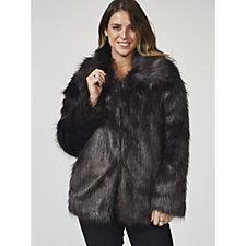 Bonnie Day Long Line Silky Faux Fur Coat