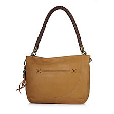 The Sak Indio Leather Shoulder Bag with Front Zip Pocket