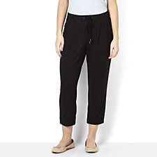 H by Halston Pull On Drawstring Waist Jersey Trouser