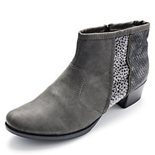 Rieker Ankle Boot with Animal & Reptile Effect Panels