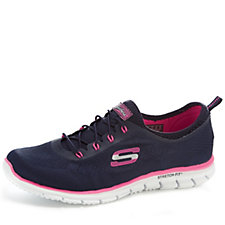157489 - Skechers Women's Stretch Fit Glider Bungee Trainer with Memory Foam
