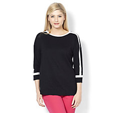 Isaac Mizrahi Live Colourblock Crew Neck Lightweight Jumper