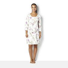 160189 - Carole Hochman Printed Jersey 3/4 Sleeve Nightgown