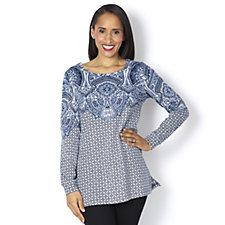 Artscapes Moroccan Print Long Sleeve Top