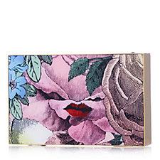 Lulu Guinness Lady Olivia Multi Rose Clutch Bag