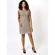 Ronni Nicole Sleeveless Medallion Stretch Lace Shift Dress