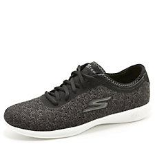 Skechers GO STEP Lite Champ Two Tone Knitted Mesh Lace Up Trainer
