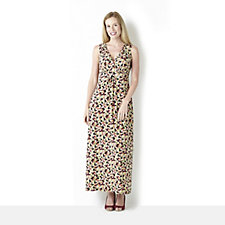 120090 - Kim & Co Printed Brazil Knit Sleeveless Maxi Dress