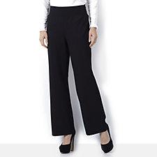 Kim & Co Milano Knit Wide Leg Trouser Petite Length
