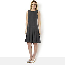 Ronni Nicole 'O So Slim' Textured Polka Dot Pintuck Dress