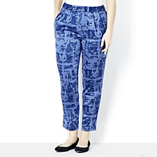 H by Halston Graffiti Print Pull On Trousers