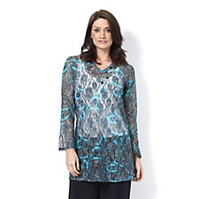 159290 - Long Sleeve Poem Lace Kaftan by Michele Hope