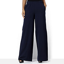 Women with Control Wide Leg Trouser with Pockets