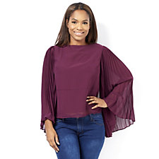 Andrew Yu Pleated Sleeve Top